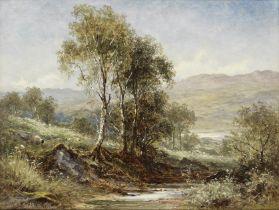 Benjamin Williams Leader, RA (British, 1831-1923) A hazy morning on the Welsh Hills
