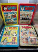 A Lot of four vintage 'The Dandy Book' Annuals dated 1956,1957, 1960 & 1961.