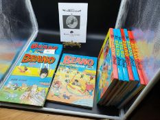 A Collection of The Beano Annual books dated 1980-1989. [Missing 1984]