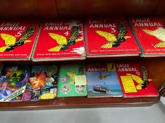 A Collection of vintage Eagle Annuals to include pre 1955