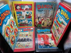 A Lot of 6 vintage 'The Dandy Book' & 'Monster Comic' Annuals. Dates include 1951,1958, 1959, 1961.