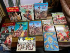 A Collection of vintage annuals which includes Ideal Book for Boys, Giles, Farm Stories and