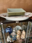 A Collection of various porcelain to include large hand painted serving platter, Beswick bun foot