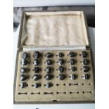 A Vintage ring box containing & collection of Siam sterling silver rings. [27 rings in total]