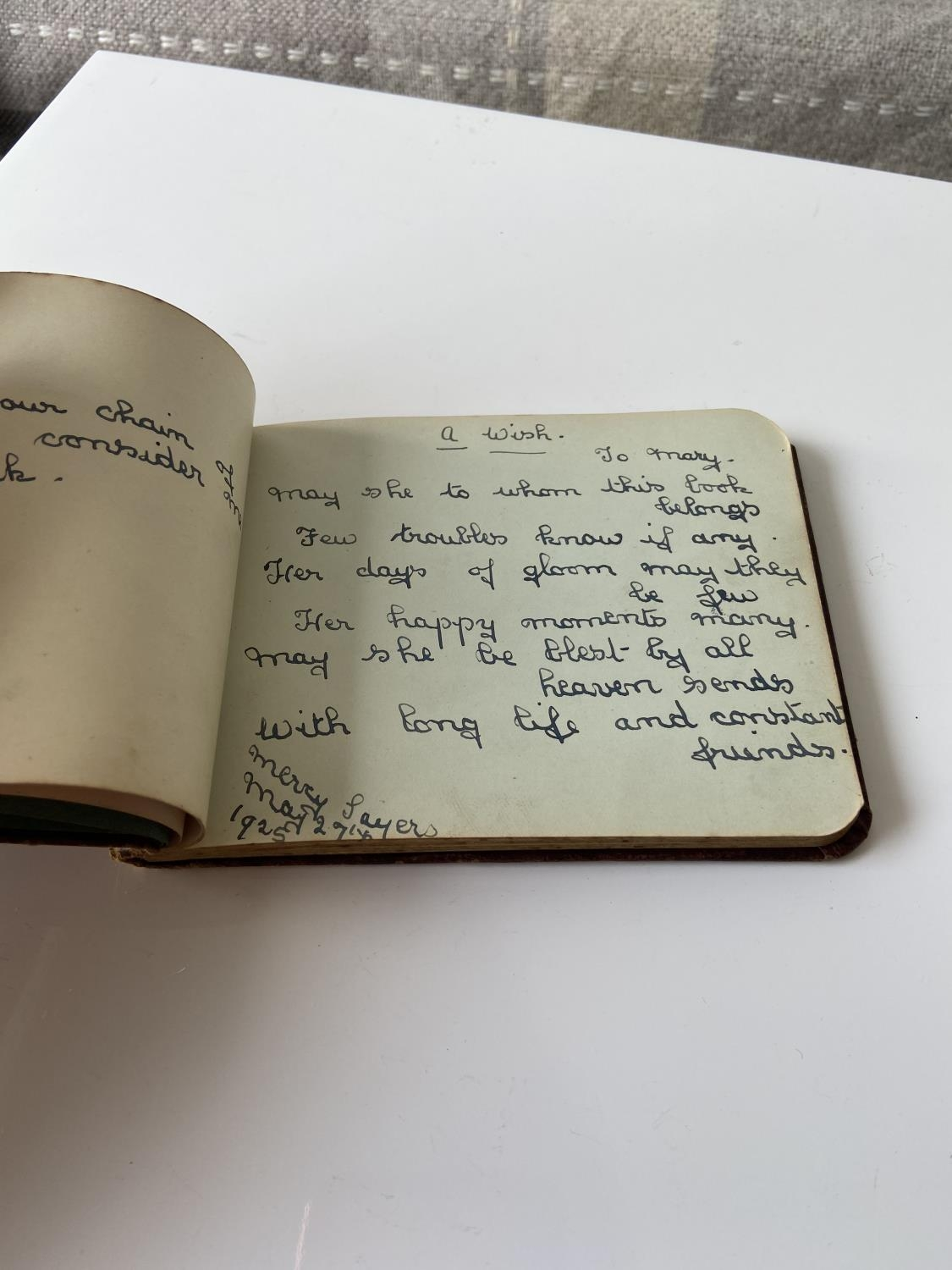 An old autograph album containing various poems, sayings & doodles - Image 5 of 18