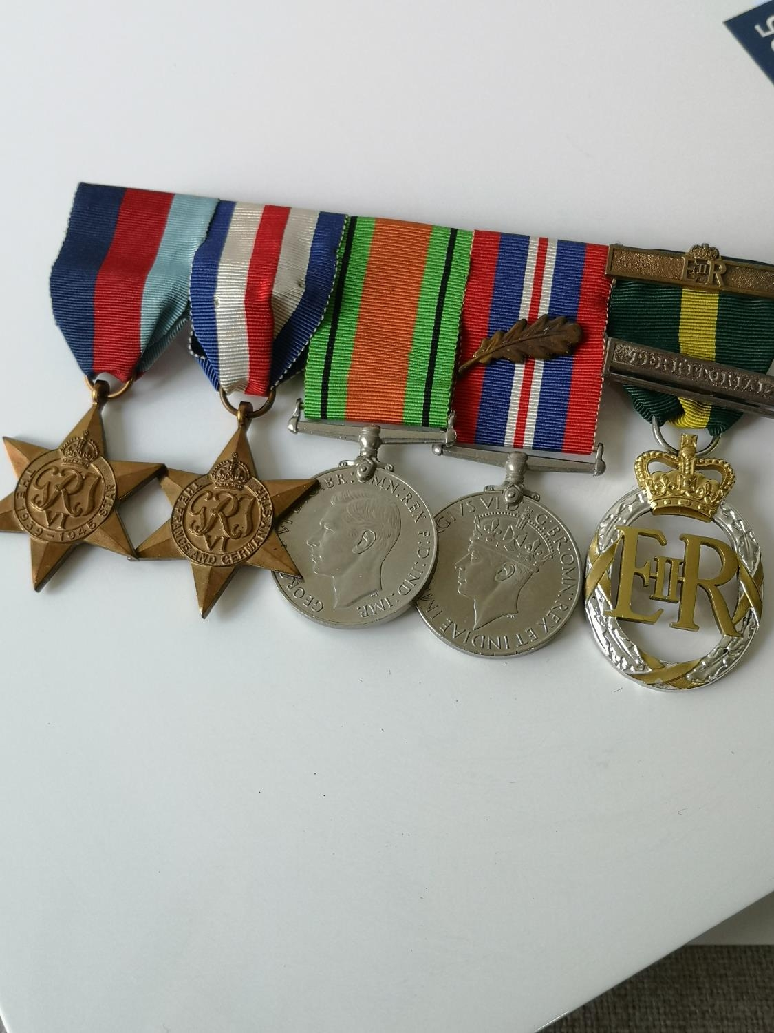 A Set of four WW2 Medals & 1952 ERII Territorial medal.