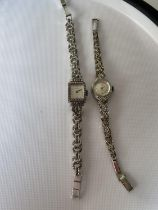 A vintage ladies 925 silver wrist watch produced by Regency [17 jewel] [working] fitted with