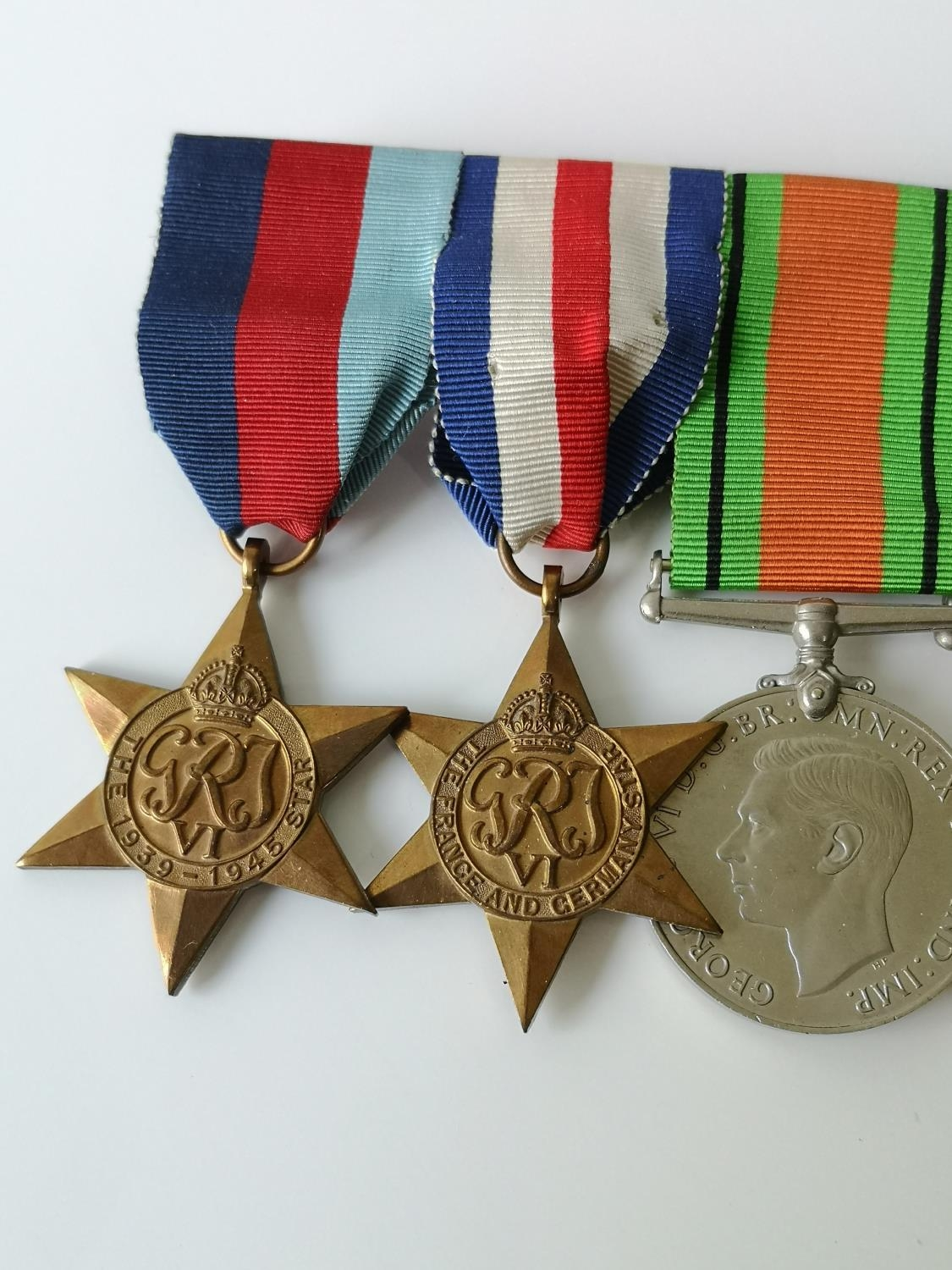 A Set of four WW2 Medals & 1952 ERII Territorial medal. - Image 2 of 4