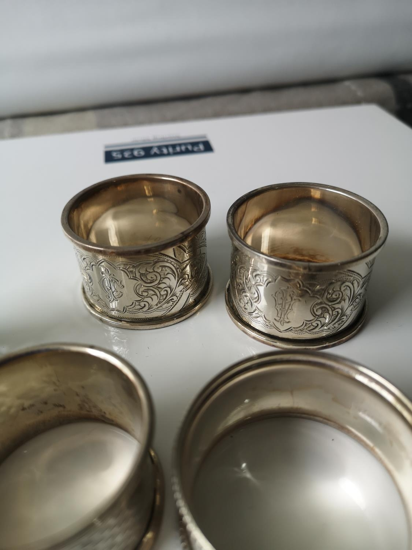 Five various Birmingham silver Napkin rings [126grams] - Image 2 of 2