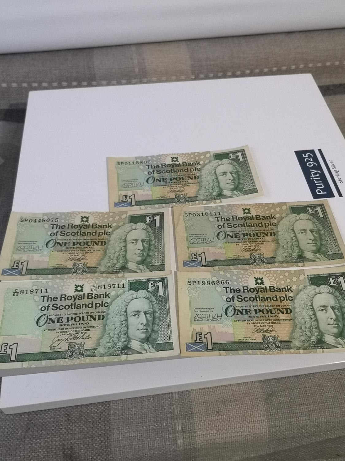 18 VARIOUS ONE POUND BANK NOTES. INCLUDES SCOTTISH PARLIAMENT, BANK OF ENGLAND AND ALEXANDER - Image 2 of 2