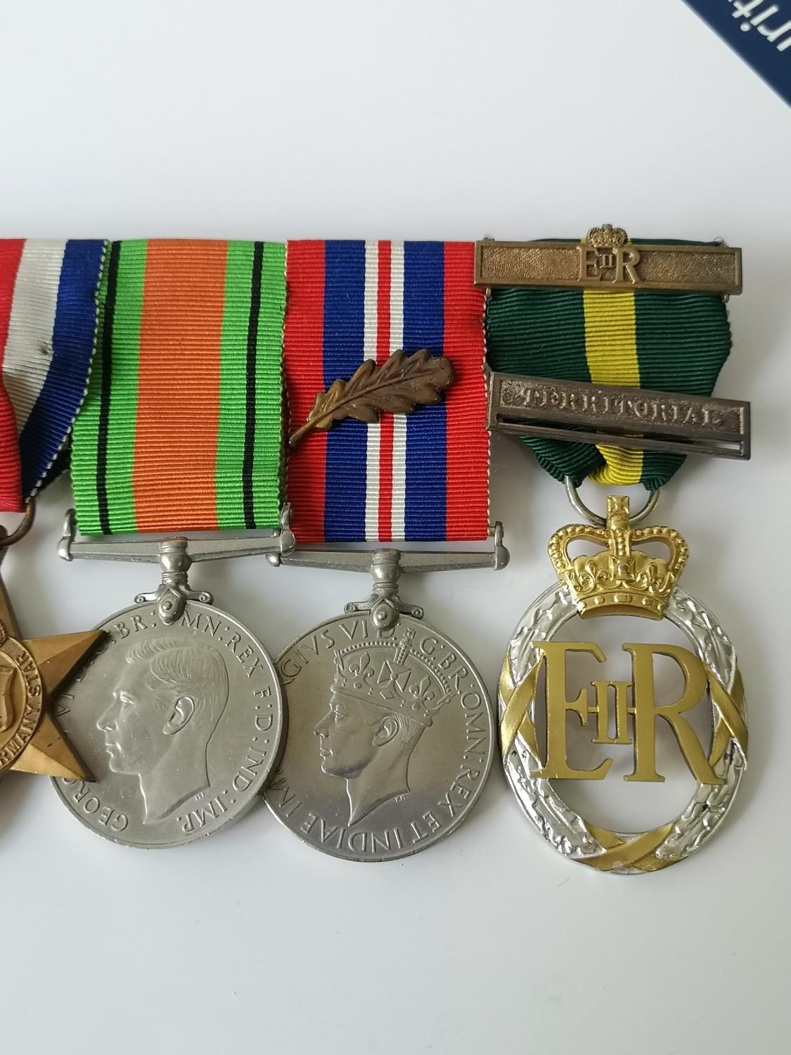 A Set of four WW2 Medals & 1952 ERII Territorial medal. - Image 3 of 4