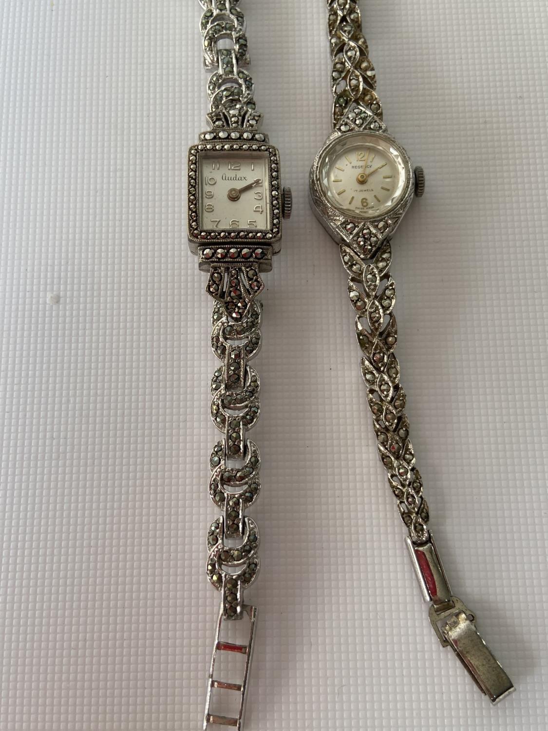 A vintage ladies 925 silver wrist watch produced by Regency [17 jewel] [working] fitted with - Image 5 of 6