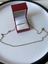 A 9ct gold belcher necklace [length 48cm] [5g]