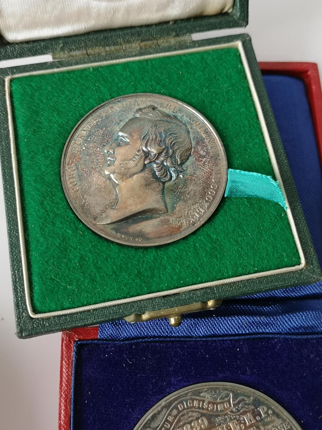 An Edinburgh silver Montrose Academy Dux medal produced by Hamilton & Inches, Comes with a fitted - Image 7 of 7