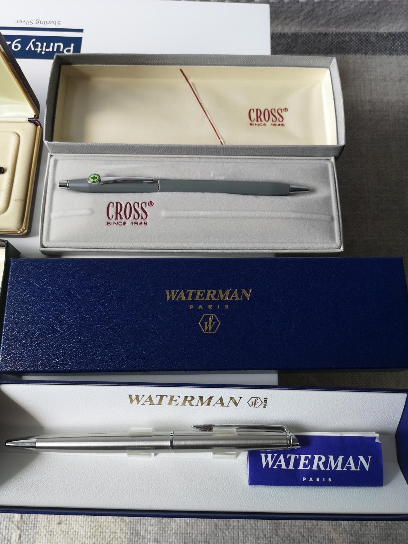 Three various cross ball point pens & Waterman Paris pen [All boxed] - Image 3 of 3