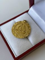 A vintage Chinese/Japanese high grade gold pendant (possibly 22ct-24ct gold) [1.84g]