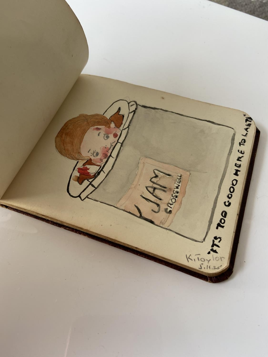 An old autograph album containing various poems, sayings & doodles - Image 9 of 18