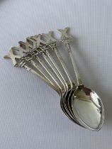 A set of 7 Birmingham silver tea spoons [J.B Chatterley & Sons Ltd] [74.63g]