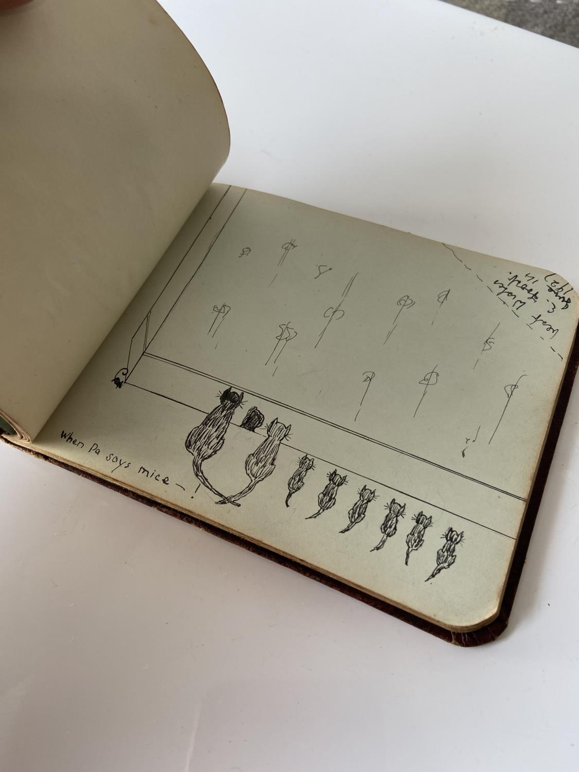 An old autograph album containing various poems, sayings & doodles - Image 11 of 18