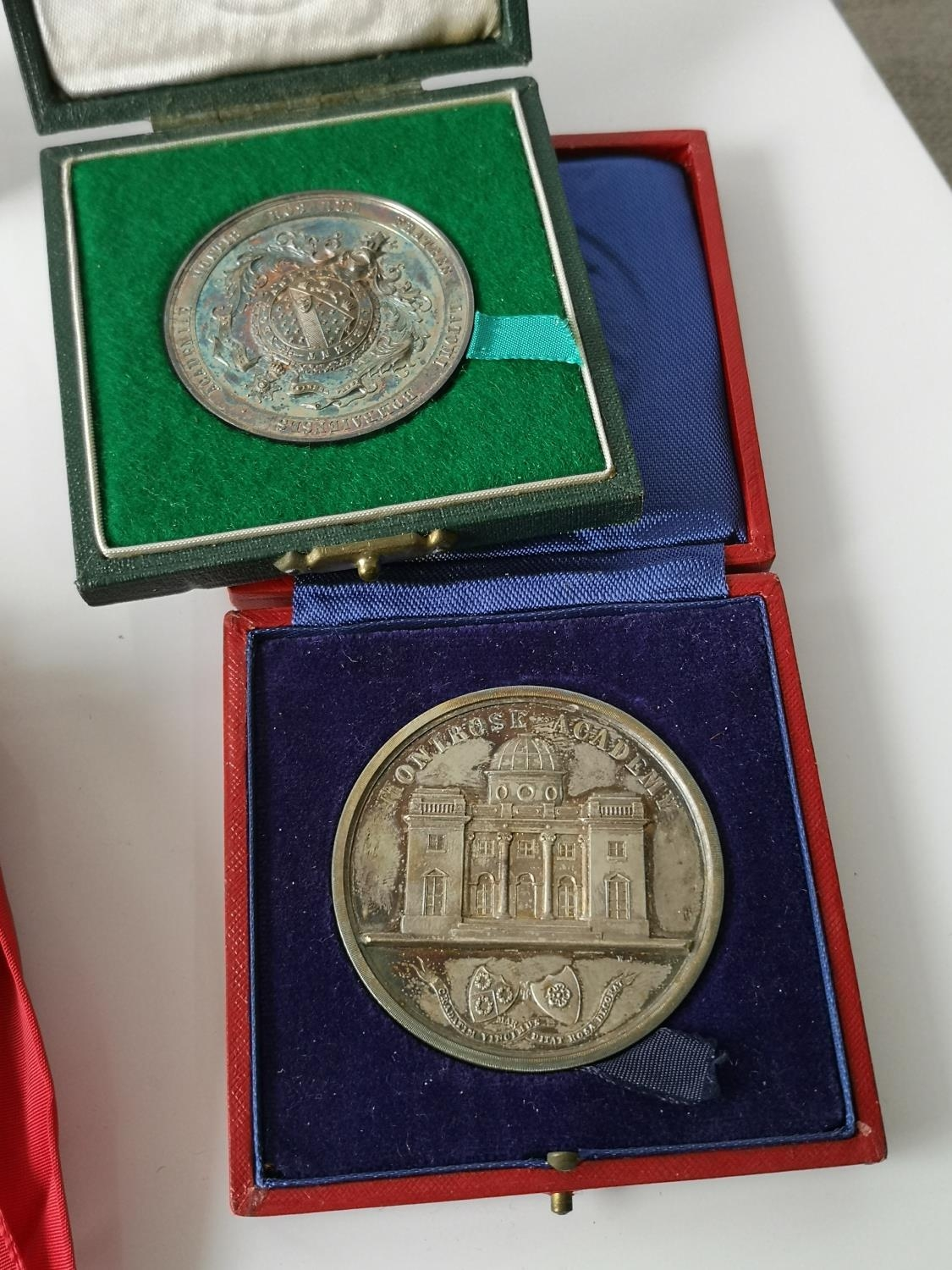 An Edinburgh silver Montrose Academy Dux medal produced by Hamilton & Inches, Comes with a fitted - Image 5 of 7