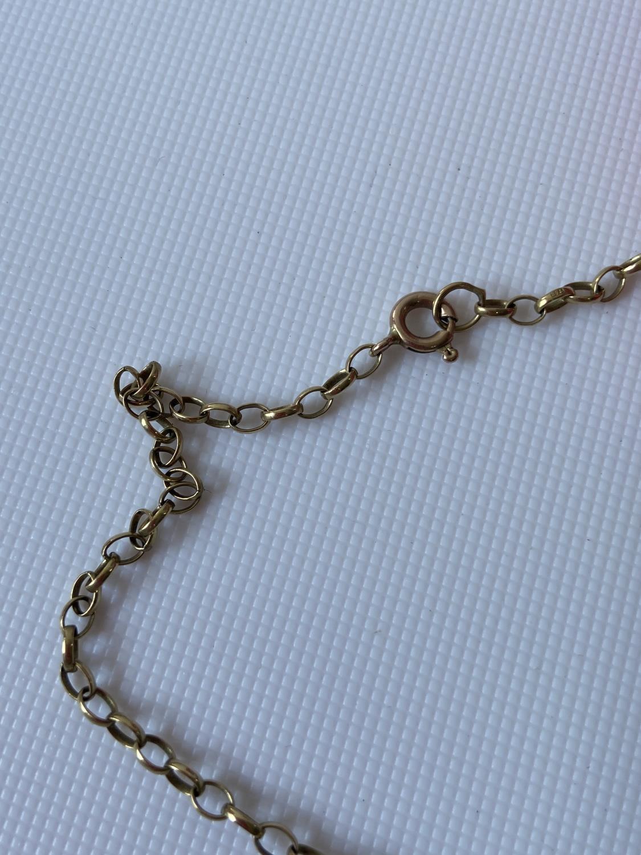 A 9ct gold belcher necklace [length 48cm] [5g] - Image 3 of 4