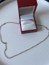 A 9ct gold belcher chain [length 44cm] [2.27g]