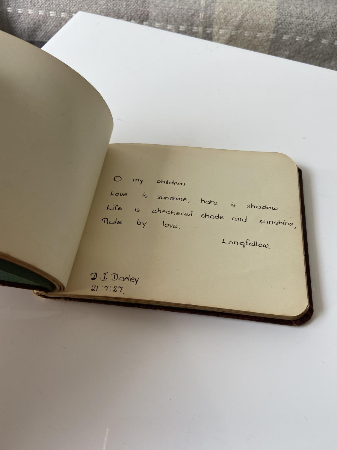 An old autograph album containing various poems, sayings & doodles - Image 7 of 18