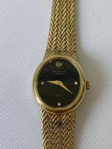Raymond Weil Geneve quartz ladies gold plated watch