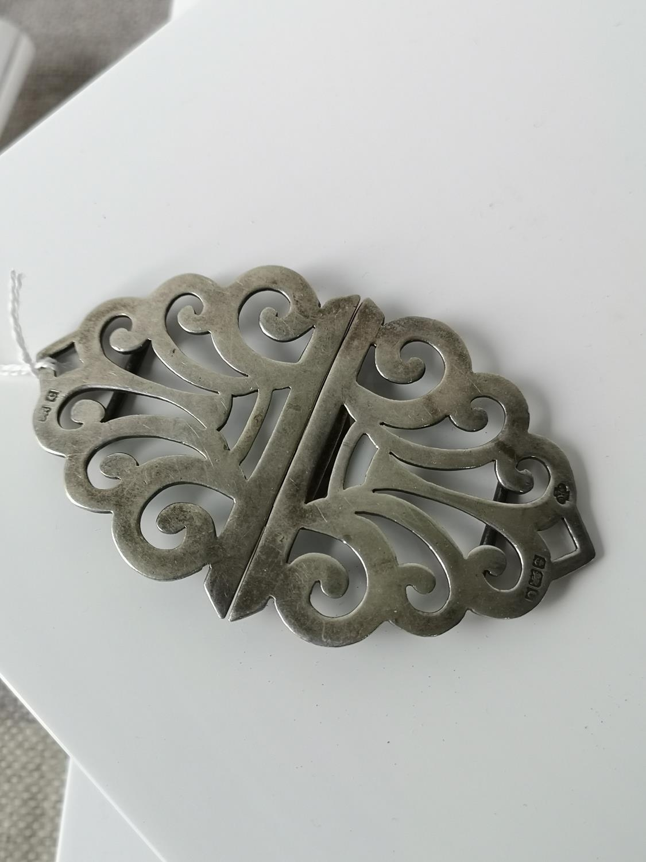 A Birmingham silver belt buckle [10cm in length] [37.16grams]