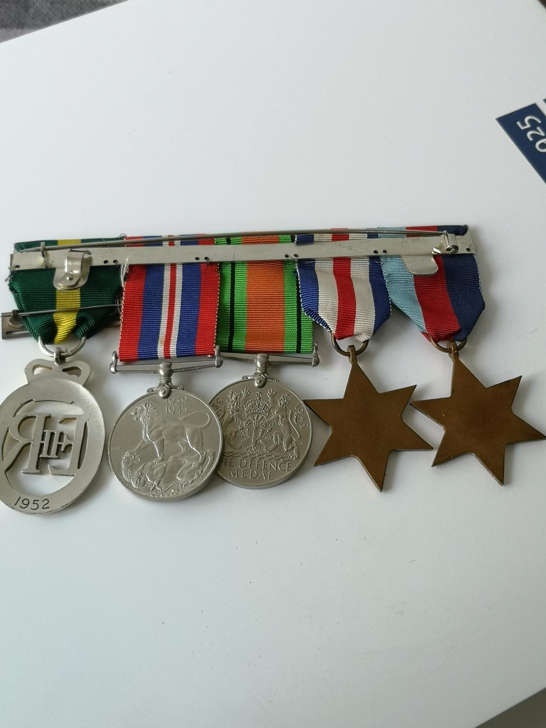 A Set of four WW2 Medals & 1952 ERII Territorial medal. - Image 4 of 4