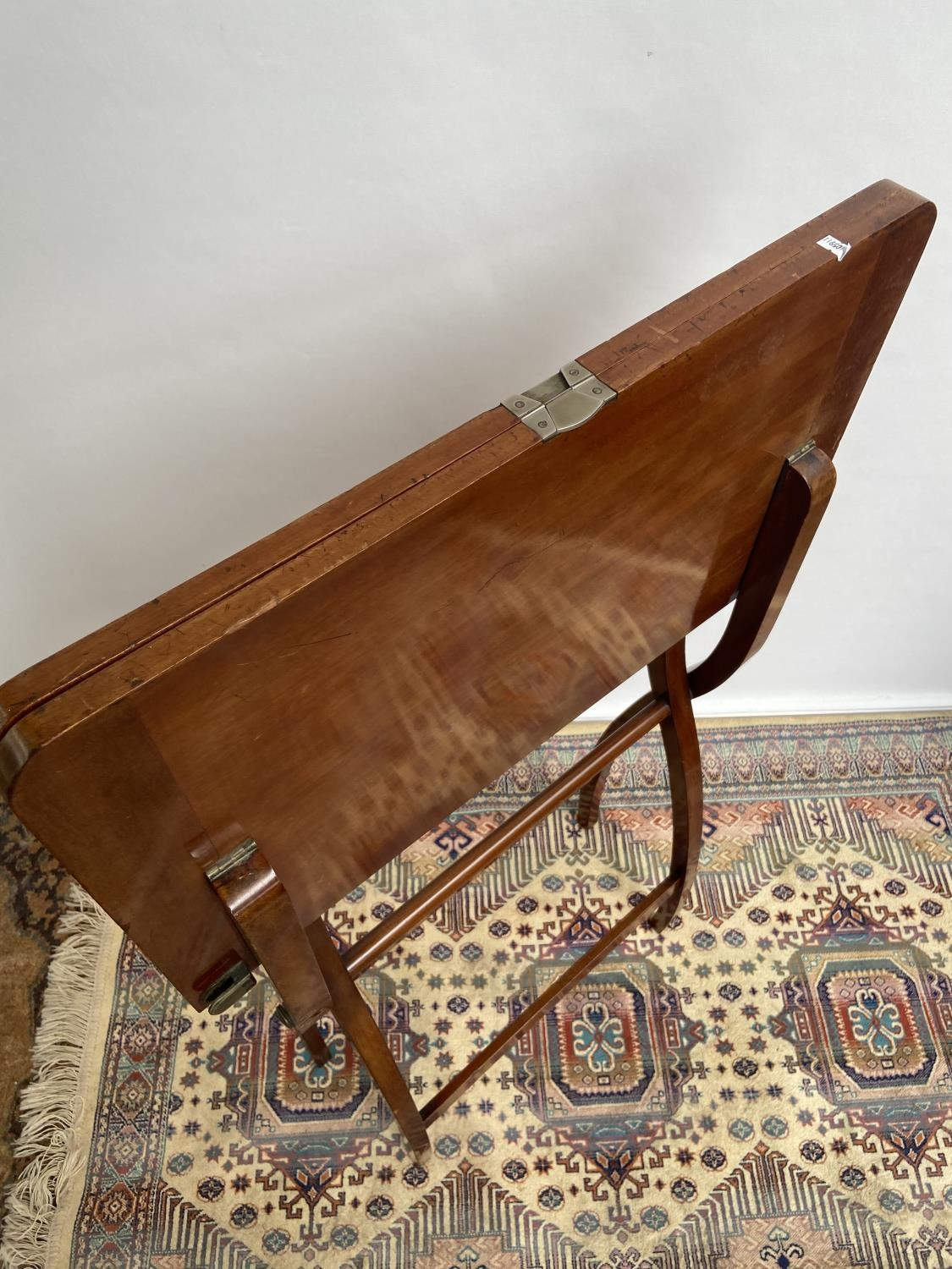 Antique Nawson Swan & Morgan folding card table/ writing table. [64cm in height, 75cm wide] - Image 5 of 6
