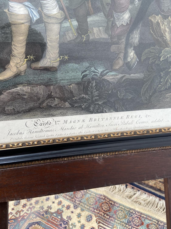 A late 18th century coloured engraving of Jacobus Hamiltonius Marchio ab Hamilton, Sacri Stabuli - Image 3 of 5