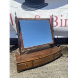 A Georgian three drawer Dressing table mirror [55x56x21.5cm]