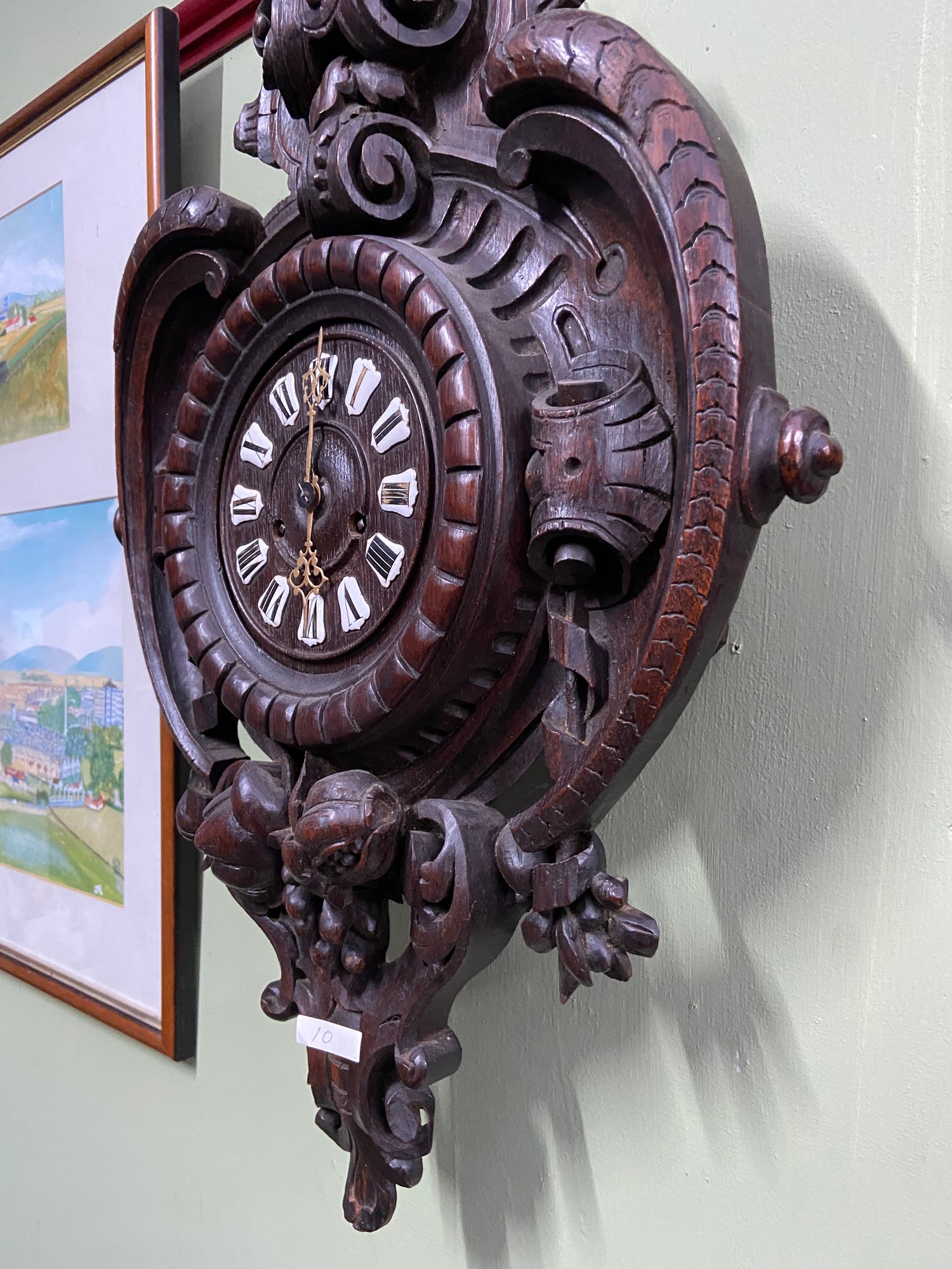 An Impressive Antique German Blackforest wall clock. [68cm in length] - Image 6 of 6