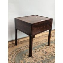 A square design Georgian side table, detailed with fine inlays