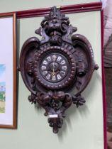 An Impressive Antique German Blackforest wall clock. [68cm in length]