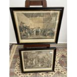 A lot of two early 19th century colour engravings titled 'A Scottish Penny Wedding' & 'A Scottish