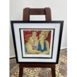 A limited edition print titled 'Two's Company' by Joan Somerville, signed in pencil by the