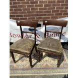 A lot of two spade back chairs