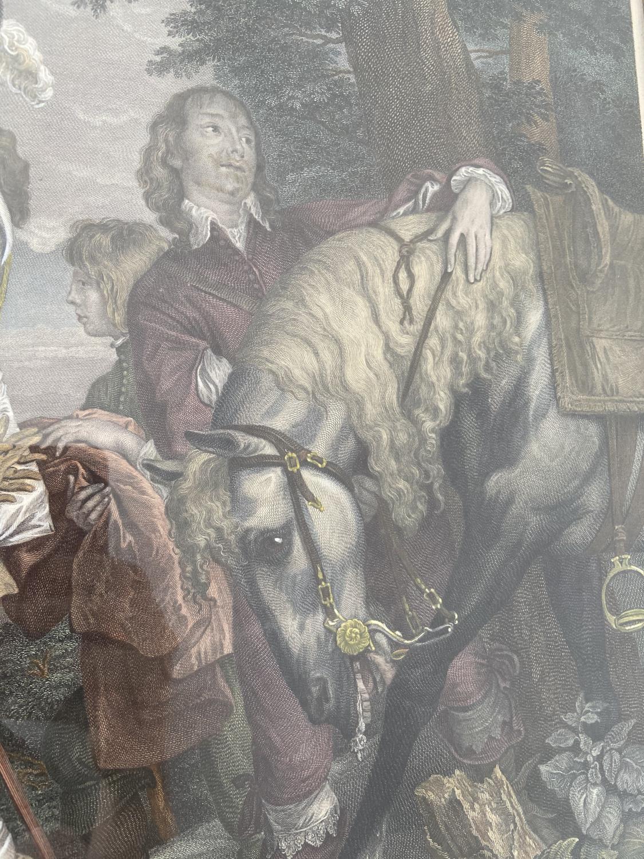 A late 18th century coloured engraving of Jacobus Hamiltonius Marchio ab Hamilton, Sacri Stabuli - Image 5 of 5