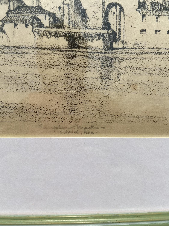 Thomas Callender Campbell Mackie The Citadel, Pisa [29x41.5cm] - Image 2 of 3
