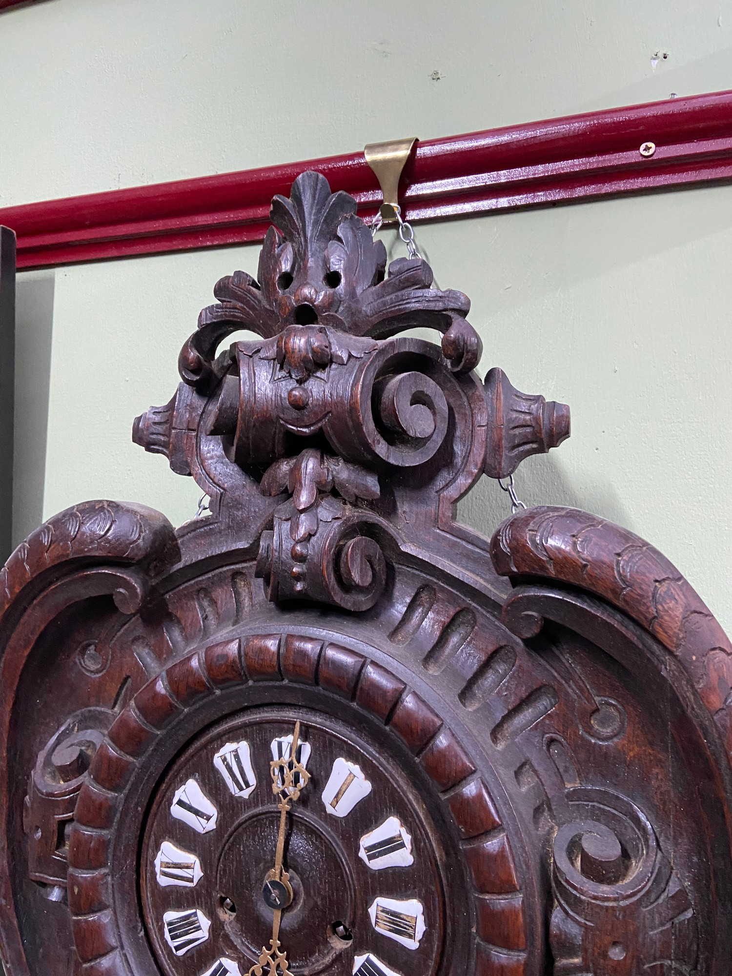 An Impressive Antique German Blackforest wall clock. [68cm in length] - Image 2 of 6