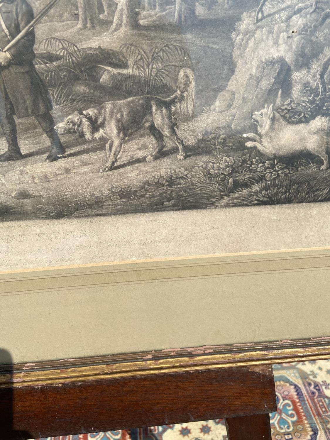 18th century engraving titled 'Game Keepers' [65x87cm] - Image 3 of 9