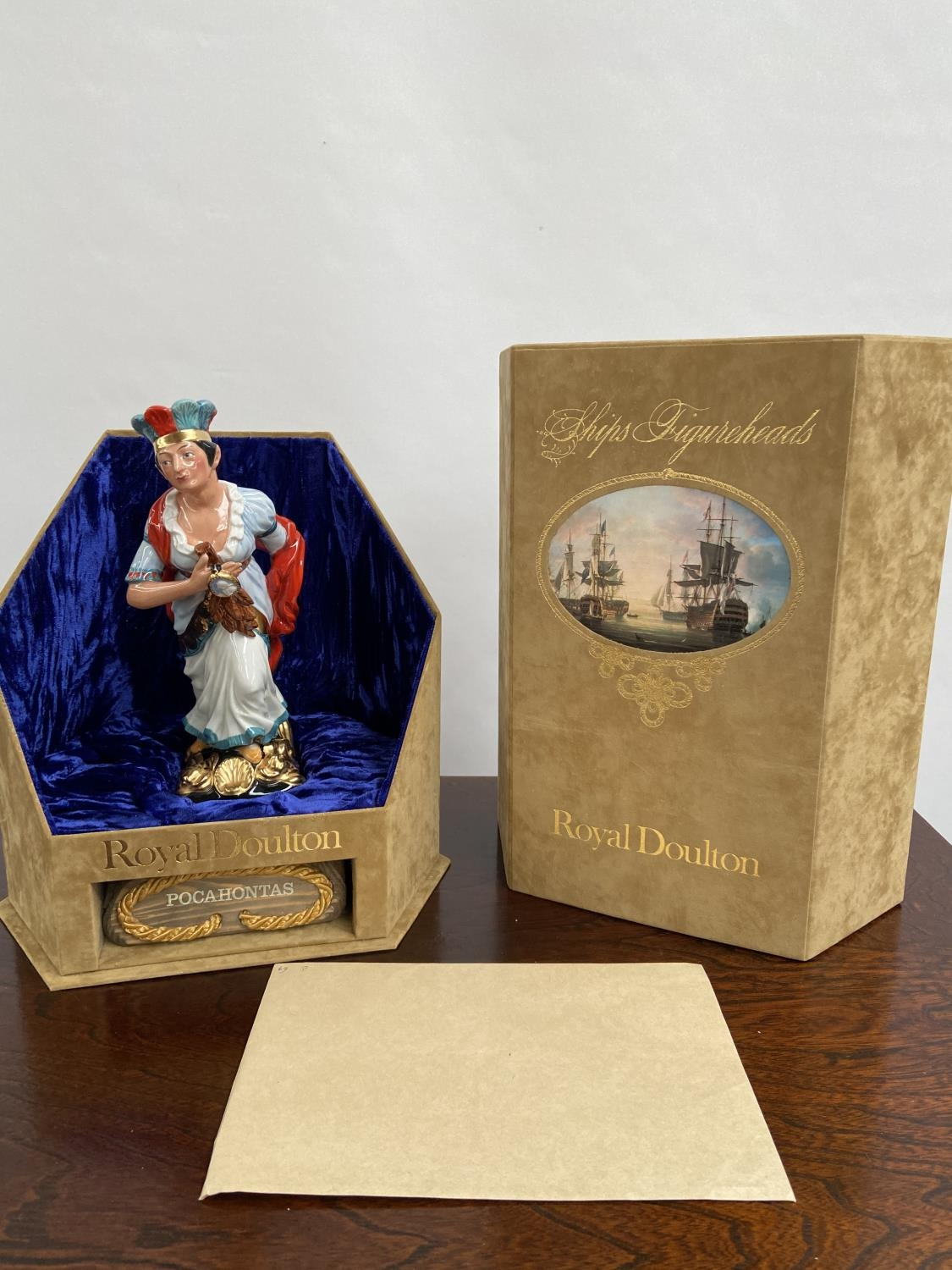 A Rare Royal Doulton Ships Figureheads bust titled 'Pocahontas' HN2930 [limited edition 69/950]