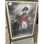 Two early 19th century coloured engravings, depicting his most gracious Majesty King George III