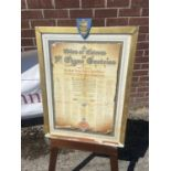 Hand Painted certificate 'Hull Times' [64x46cm]