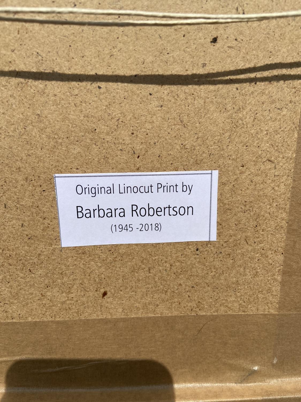 Barbara Robertson Chicken linoprint Limited edition 19/20 [27x22.5cm] - Image 2 of 2