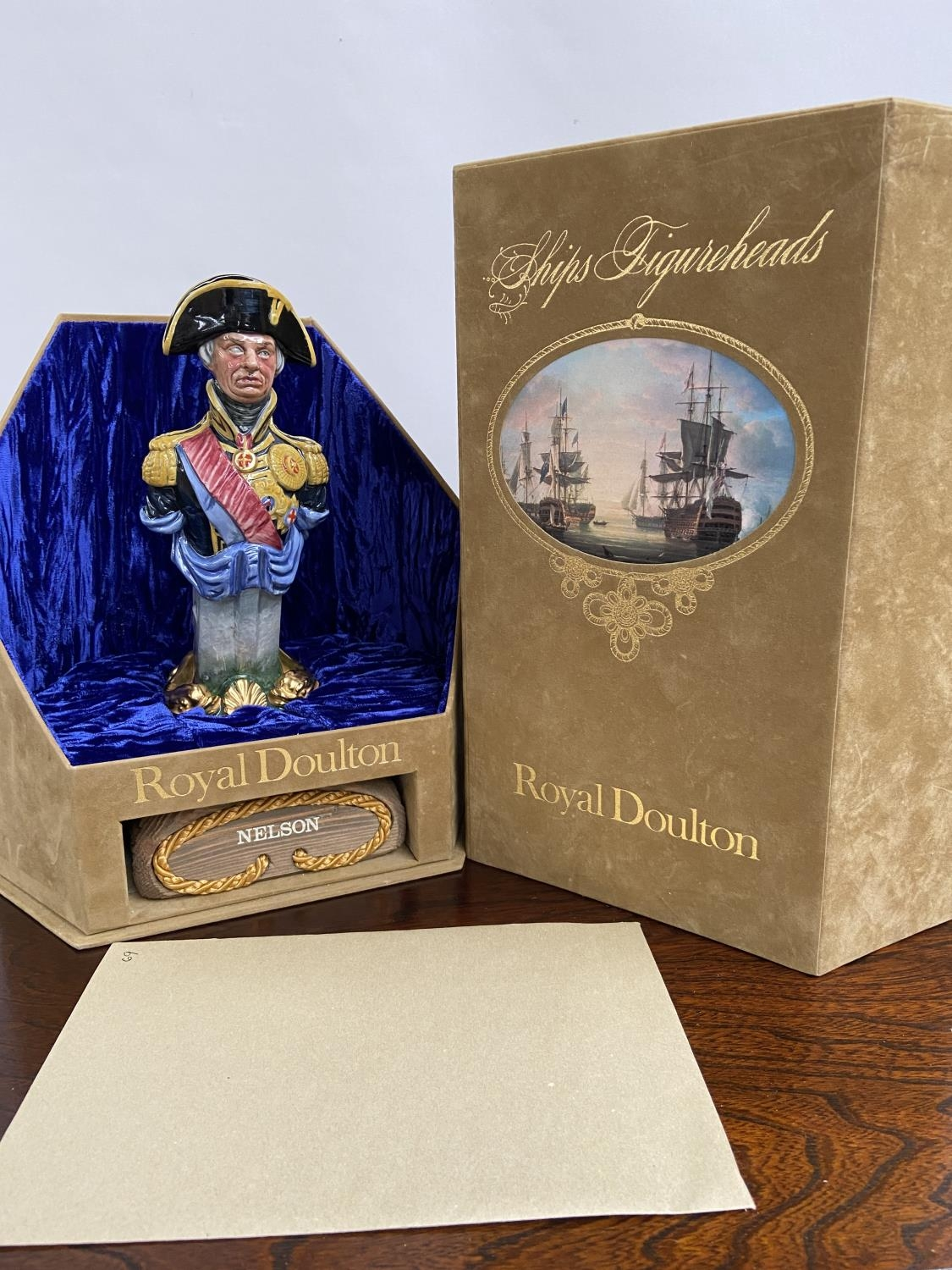 A Rare Royal Doulton Ships Figureheads bust titled 'Nelson' HN2928 [limited edition 69/950] comes