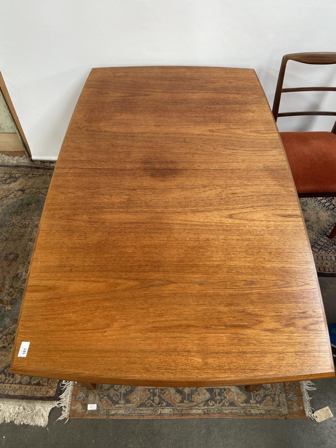 A Retro mid century teak dining table and four matching chairs produced by Vanson. [Table extended - Image 13 of 13