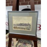 Signed watercolour of St Andrews [31x38cm]